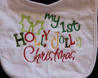 1st Christmas baby BIB