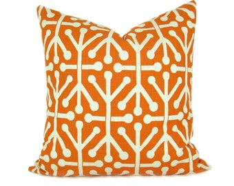 Orange Pillow - Pillow Covers - Throw Pillow covers - Orange Pillow Cover - Decorative Pillows - Toss Pillow - Orange Decor - Pillows