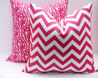 pillows - Pink Pillow - pink pillow covers - Throw Pillow covers - Decorative Pillows - Kids room - Dorm Decor - 18x18 Pillow Covers