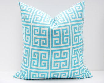 tiffany blue inch decorative throw pillow aqua blue pillow one cover printed. Black Bedroom Furniture Sets. Home Design Ideas