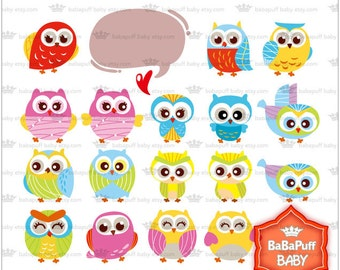Buy 2 Get 2 Free ---- Baby Owls Set 2 ---- Personal and Small Commercial Use ---- BB 0302