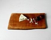 Black Cherry serving board, natural cheese board, salvaged wood, live edge