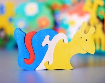 Wood Puzzle SNAIL. Wooden toys, wooden animal puzzle, eco-friendly handmade toys for babies, children, kids