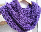 Sparkly Hand Knit Seed Stitch Cowl - Made to Order