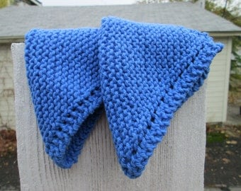 Bright Blue Dishcloths
