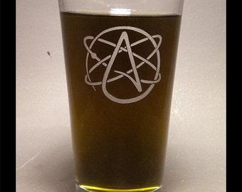 Atheist Logo Pint Glass