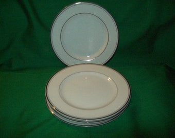 """Four (4), 6 3/8"""" Bread & Butter Plates by Imperial China, of Japan, in the Sincerity Pattern."""