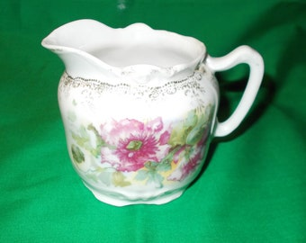 One (1), Unmarked Porcelain 8 oz. Creamer