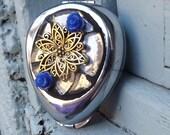 Mosaic Flower Pill Box, Earring Box, Trinket Box, Wedding Gift, Bridemaids Gift, Bedside Decor