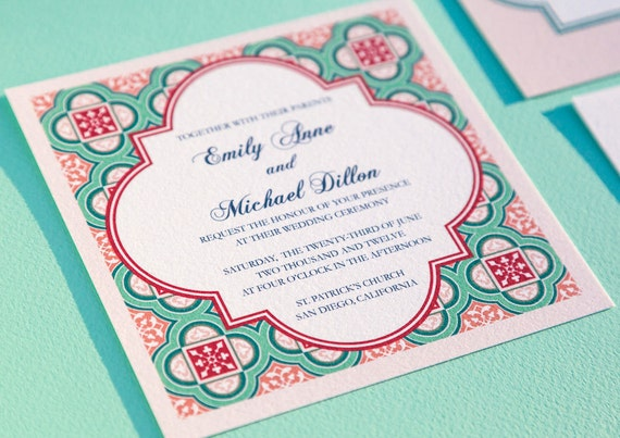 Invitations In Spanish For Wedding: Items Similar To Printable Spanish Square Tiles Wedding