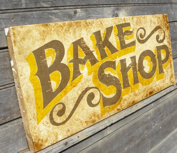 Bake Shop sign, wooden, , original, kitchen decor, personalized sign, faux antique,wall hanging