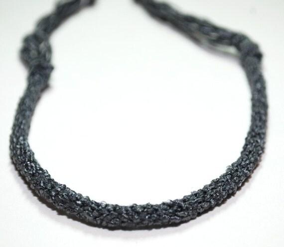 Kumihimo Bracelet Bamboo Fibre Mens Eco Friendly Grey Jewelry