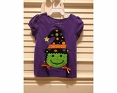 Halloween Appliqued Witch Tee
