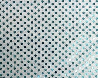 Sequin Small Dots Aqua Fabric 42 Inch Fabric by the Yard 1 yard