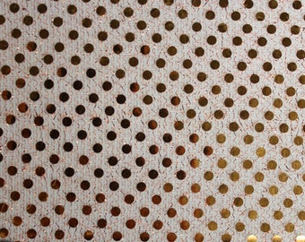 Sequin Small Dots Orange Fabric 42 Inch Fabric by the Yard 1 yard