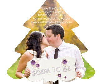 Save the Date Magnet Holiday Christmas Wedding or Event