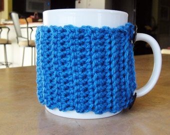 Blue Coffee Cozy