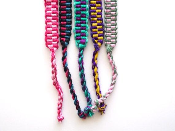 Woven Friendship Bracelets, South American, bracelets for embellishing, Set of 5