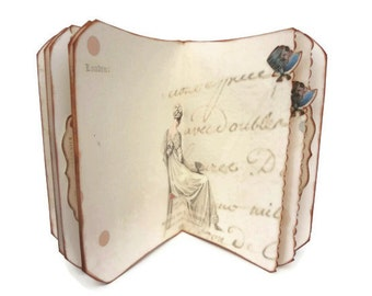 Jane Austen Journal, Regency Fashion, Writer's Journal, Pride and Prejudice, Bridal Shower Guestbook, MADE TO ORDER