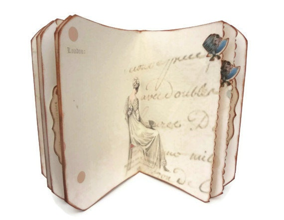 Jane Austen Journal, Regency Fashion, Writer's Journal, Pride and Prejudice, Bridal Shower Guestbook, MADE TO ORDER