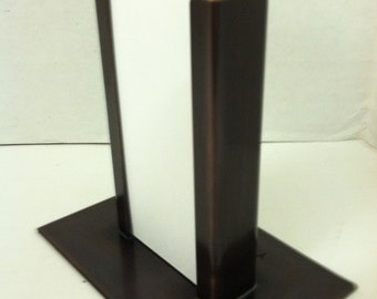 Copper Vertical Modern Business Card Holder