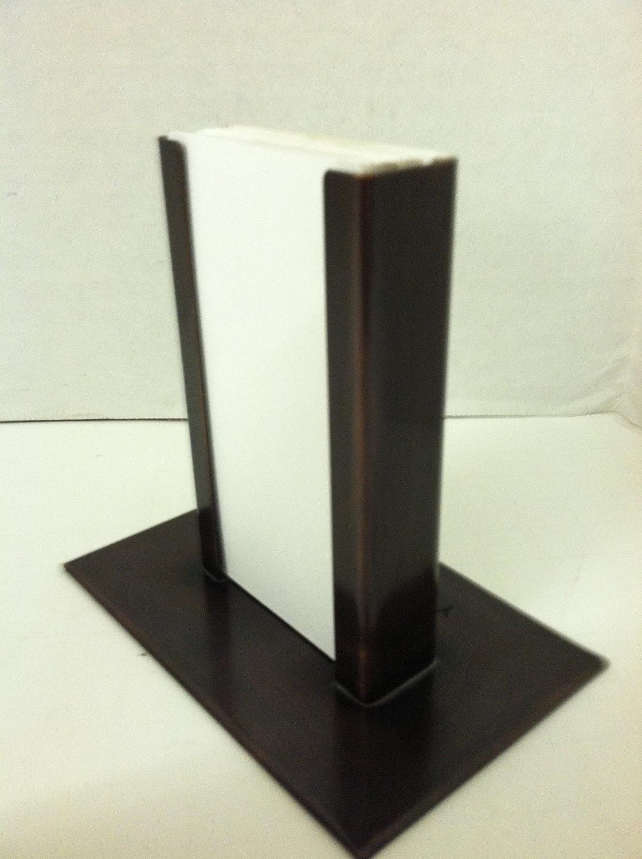 Copper vertical modern business card holder for Modern business card case