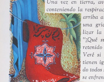 ALI BABA, Cuarenta Ladrones, Buenos Aires, Vintage, 1939, Great Illustrations, SPANISH Language