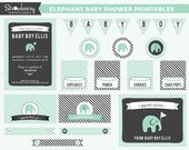 DIY Elephant Baby Shower Printables