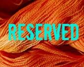 Reserved for Sharon Benson