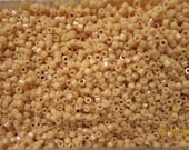 DB-208, Miyuki Delica Beads, Size 11/0, Opaque Luster Tan - 5 grams or, choose a Larger Pkg from the 'Select an Option' menu