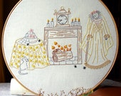 Miss Havisham - Embroidery Pattern PDF - Dickens - Great Expectations - Includes Stitch and Color Guide