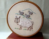 A Wolf in Sheep's Clothing - PDF Embroidery Pattern - Aesop's Fables - Includes Color and Stitch Guide