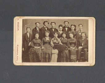 Early CDV ~ School Photo of 14 Subjects