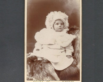 CDV of a Very Overdressed Baby