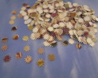 paper stars wedding confetti party decoration 500 pieces cut from old sepia photographs