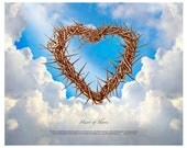 "Christian Art - 10""X8"" HEART OF THORNS Print"