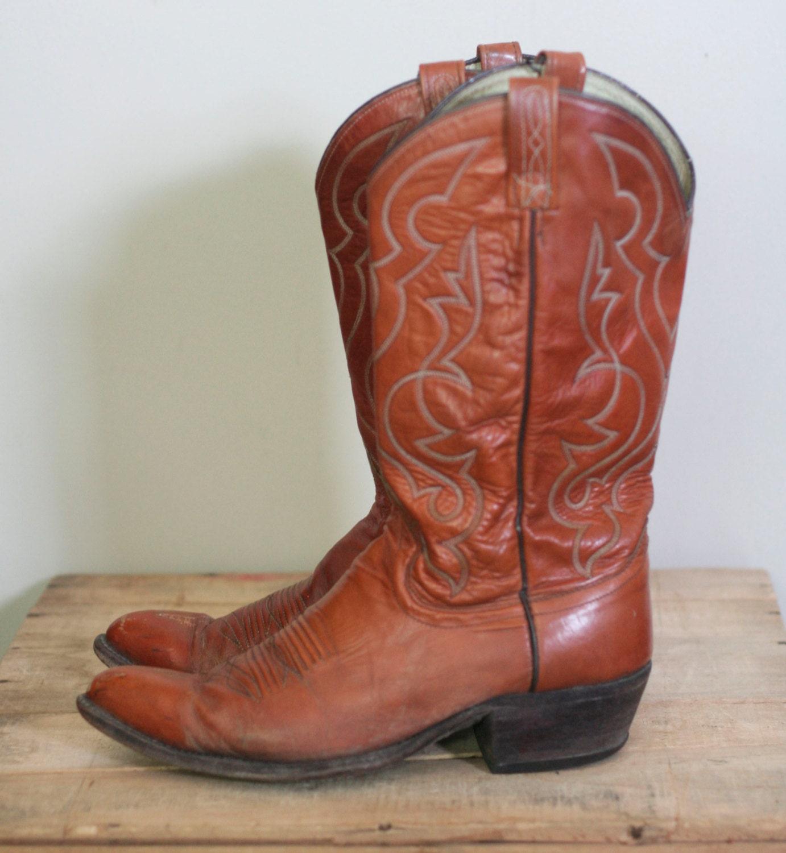 vintage dan post s cowboy boots size 10 5b by