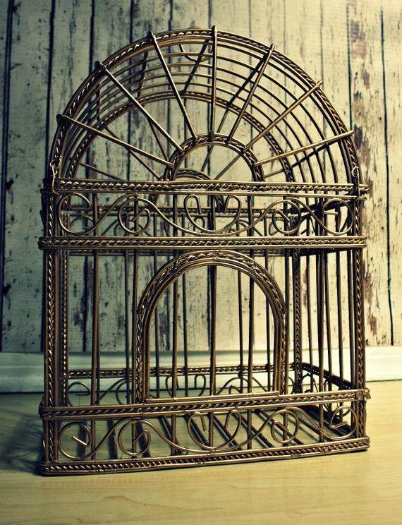 Bird Cage-Wedding Bird Cage-Vintage Bird Cage-Wedding Card Holder-Card Box