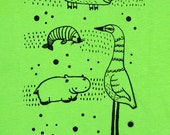 SALE - Tshirt With Animals For Children - 7/8 YEARS OLD