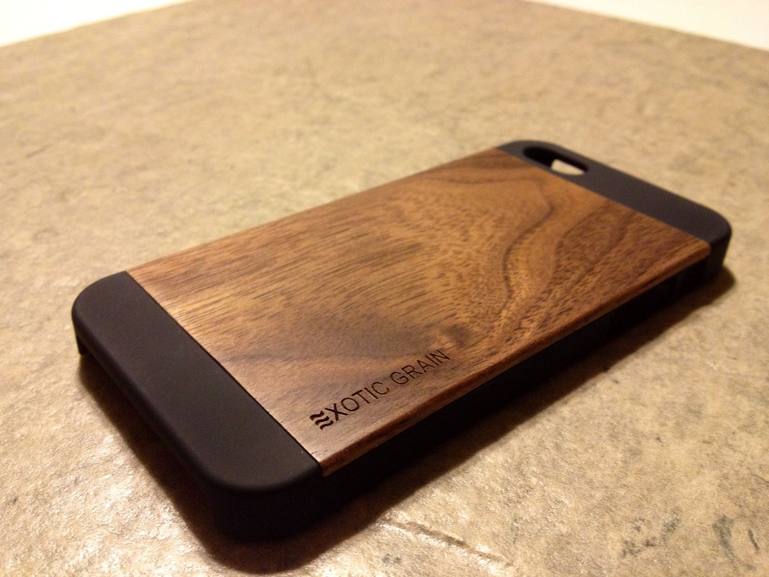 wood iphone 5 case wood iphone 5 real wood rich polished walnut 6486
