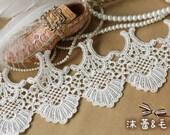 Lace Trim Cotton Lace Fabrics Retro Grace Scollap Lace Supplies