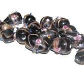 Lampwork Glass Beads - 14 Beads - 15mm (003)