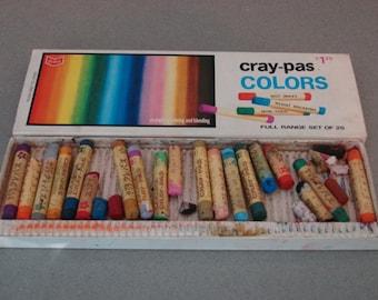 Vintage Cray-Pas Colors Oil Pastels made by Sakura in Japan