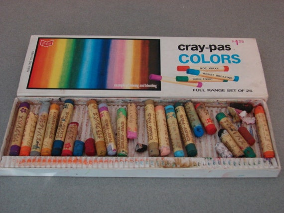Vintage Cray Pas Colors Oil Pastels Made By Sakura In