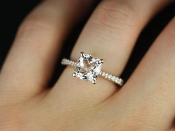 ... Morganite and Diamonds Cathedral Engagement Ring (Other metals and. ◅