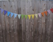 happy birthday paper bunting. ROYGBIV decorative paper bunting. celebration bunting. Celebration banner