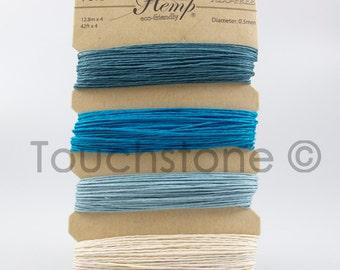 Hemp Cord Blue Shades of Aqua 10lb 168ft Crafters Thread
