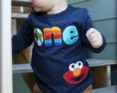 Boy ELMO With Age Shirt