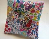 Liberty London  Lavender Cushion / Sachet with Light Gray Linen