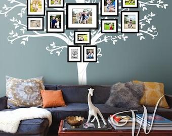 "Wall decal, 108"" Tall Family Tree  - Nursery Wall Decal"